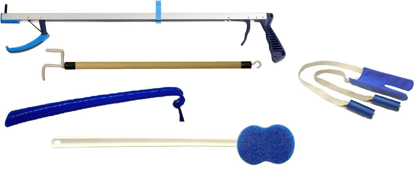 KINSMAN HIP KITS Econo Hip Kit ''C'' Includes: (1) 27'' Ergo Plus Reacher, (1) Deluxe Terry Sock Aid, (1) 27'' Dressing Stic by Kinsman Enterprises Inc