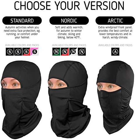Reversible Polar Buff Balaclava Beanie Hat Face Mask Neck Tube Snood Snow Hawai
