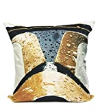 Fennco Styles Sci-Fi Fantasy Linen Blend Decorative Throw Pillow - 17''X17'' - 5 Designs (Case Only, Gold Clone Trooper)
