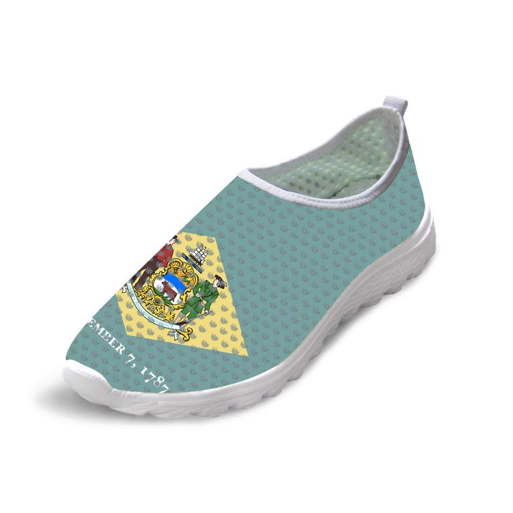 Owaheson Trail Runner Running Shoe Casual Sneakers Diamond Delaware Flag