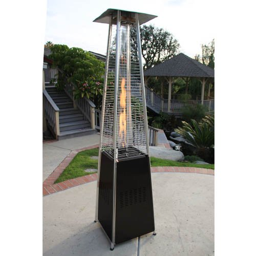 garden radiance grp4000bk dancing flames pyramid outdoor patio