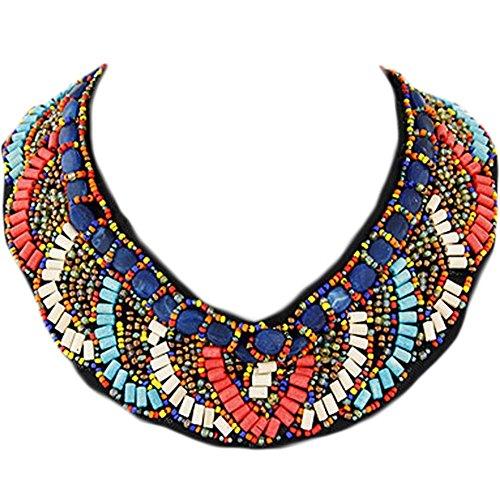 Wooden Bead Detachable Shirt False Collar Fake Collar Necklace/Adjustable ()