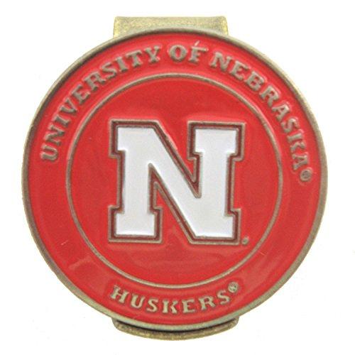 Nebraska Corhuskers Hat Clip with Double Sided Golf Ball Marker Nebraska Huskers Golf