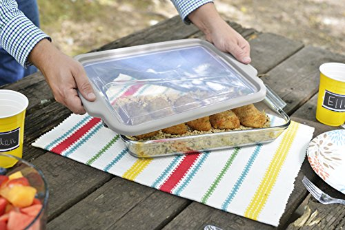 Anchor Hocking 3-Quart Glass Baking Dish with Pepper Grey TrueFit Lid by Anchor Hocking (Image #4)