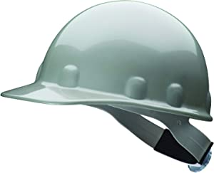 Fibre-Metal by Honeywell SuperEight Thermoplastic Cap-Style Hard Hat with 8-Point Ratchet Suspension, Gray