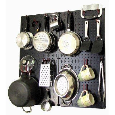 Wall Control 30-KTH-200 BR Kitchen Pegboard Organizer Pots and Pans Pegboard Pack (Pegboard Pack)