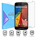 Motorola Moto G 2nd Gen Screen Protector, YVBOX Ulra Thin Anti-Scratch Shatterproof Tempered Glass Screen Guard Protector Film for Motorola Moto G2 / G 2nd Generation - Crystal Clear