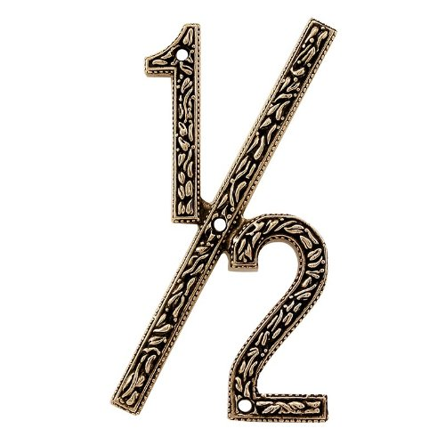 Antique Gold Vicenza Designs NU12 San Michele Venetian Style House Number 1//2
