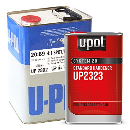 U-Pol 2892 High Solids Urethane (4.4 VOC) High Solids Spot Repair Urethane Clearcoat Kit with Standard (65 to 90ºF) Temperature Hardener