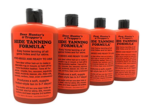 Deer Hunter's & Trapper's Hide & Fur Tanning Formula Multi Pack (4)