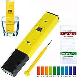 Aquarium Pool PH Meter Test Kit - Gbell Digital PH Meter Tester Water Hydroponics Portable Pen Aquarium Pool Test Kit