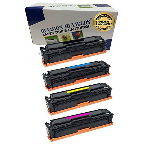 HI-VISION HI-YIELDS Compatible Toner Cartridge Replacement for HP CE411A ( 4-Pack )
