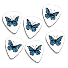 Blue Butterfly 6 X Loose Logo Guitar Picks (GD)