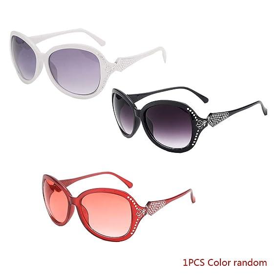Beaums Las mujeres de trama grande gafas de sol de cristal ...