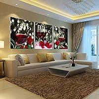 Bolange 3 pezzi/moderno mosaico pittura a olio su tela crisantemo, 30 * 30 cm * 3 stile Art pittura decorativa decorazione della casa (leone)