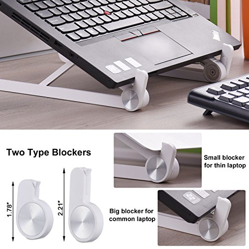 Laptop Stand - JUBOR Adjustable Laptop Stand Portable Foldable Ergonomic Desktop Stand Holder Mount for MacBook Notebook Computer PC iPad Tablet by Jubor (Image #5)