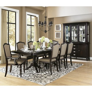 Amazon Com Homelegance Marston 10 Piece Double Pedestal Dining