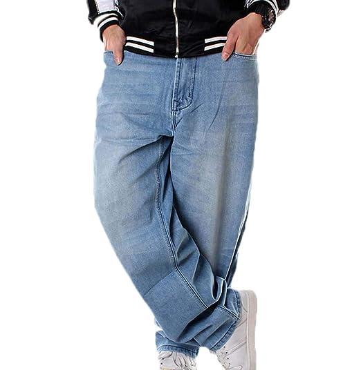 Pantalon en Denim pour Hommes Hip Hop Hellbalu Jean Baggy Denim Baggy f4b45d1aacfe