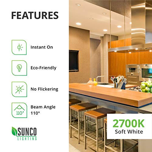 Sunco Lighting 48 Pack BR30 LED Bulb 11W=65W, 2700K Soft White, 850 LM, E26 Base, Dimmable, Indoor/Outdoor Flood Light - UL & Energy Star by Sunco Lighting (Image #8)