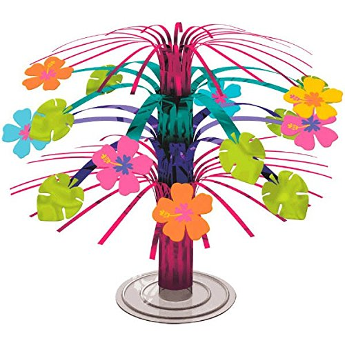 Amscan Hibiscus Party Foil Cascade Centerpiece, -