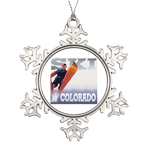 Tree Decorating Ideas Colorado CO Skier Ski Skiing and Winter Sports Photo Christmas Snowflake Ornament Breckenridge