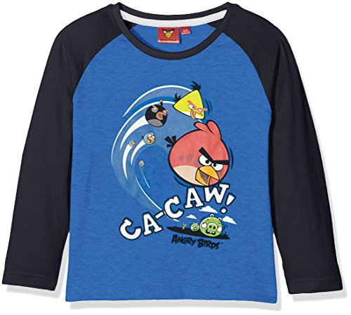 blue Angry Multicolore Garçon Manches Birds Longues Shirt aqRxFYqUwW