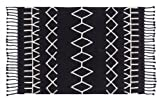 Lorena Canals Bereber Black/ White 4' 8'' x 6' 7'' Washable Rug