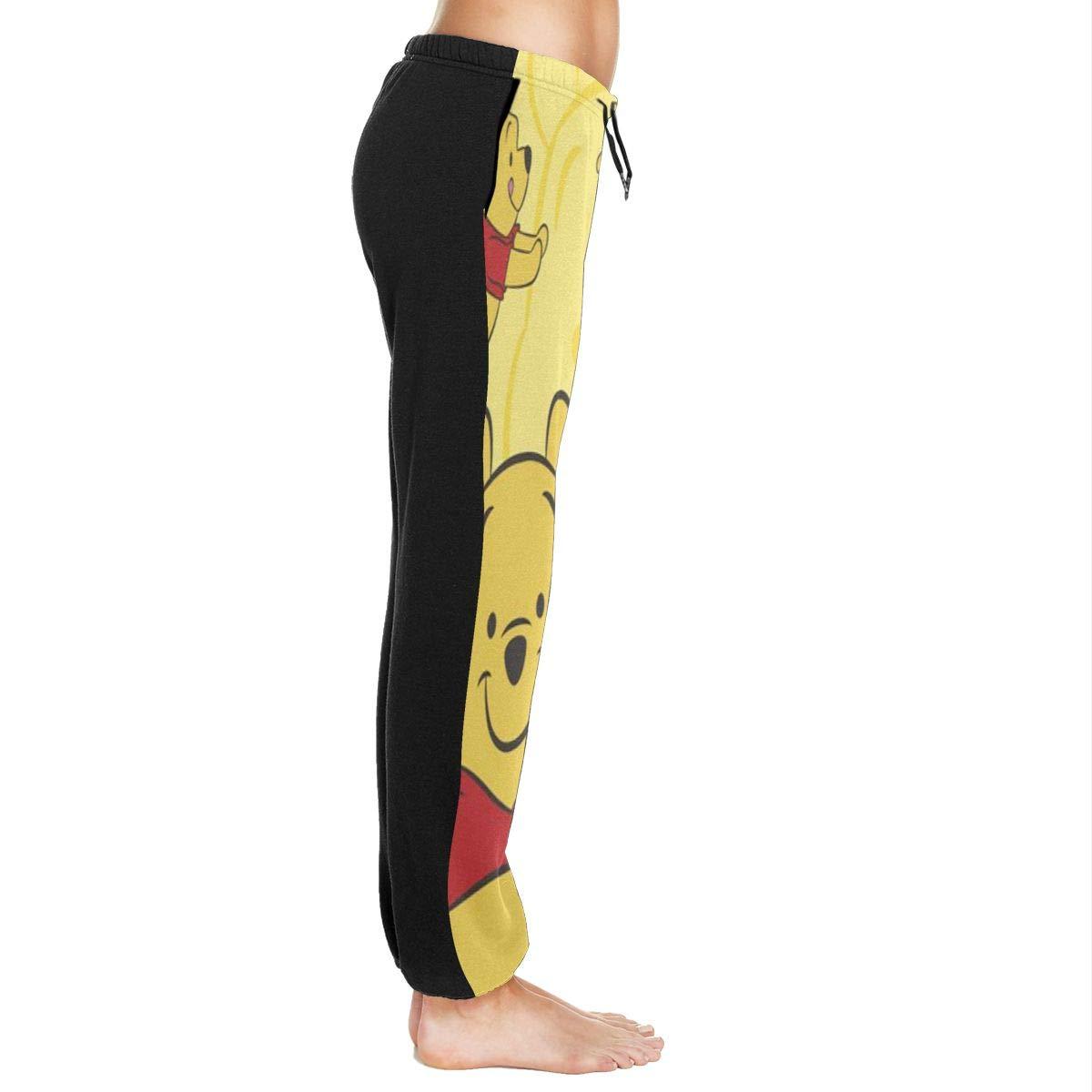 Xzcxyadd Womens Jogger Lounge Sleep Sweatpants Pajamas Pants Winnie Pooh Print Drawstring Lounge Pants /ï/¼/ˆS-XXL/ï/¼/‰
