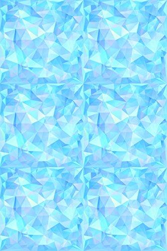 Blue Ice Geometric Pattern Heat Transfer Vinyl Sheet for Silhouette 12