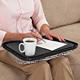 Inverlee Multifunction Lap Desk for Laptop Chair Student Studying Homework Writing Portable Dinner Tray (Black)