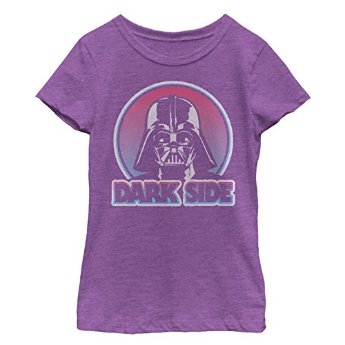 Star Wars Girls' Darth Vader Circle Purple Berry T-Shirt]()
