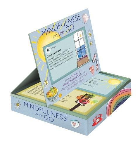 Books : Mindfulness on the Go: Includes 52 cards and a 64-page illustrated book, all in a flip-top box with an easel to display your mindfulness cards