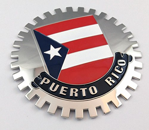 Flag Grille - Puerto Rico Grille Badge for car truck grill mount Puerto Rican flag