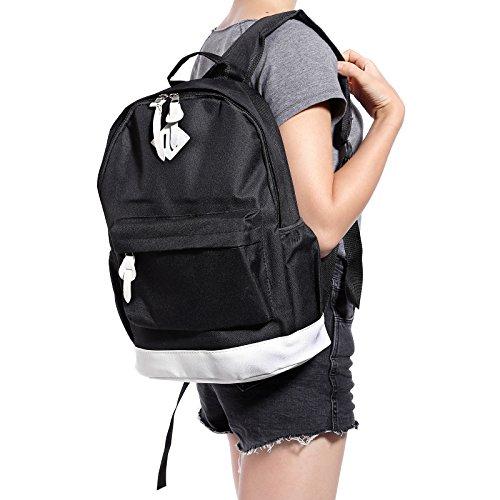 CLE DE TOUS - Mochila Tipo Casual Escuela para Hombre Mujer Niño Niña 40 x 30 x 12cm Negro