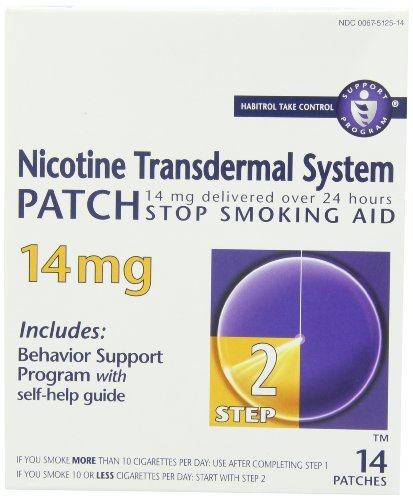 Novartis Nicotine Transdermal System Patch 14 mg Step 2 14 EA - Buy Packs and SAVE (Pack of 3)
