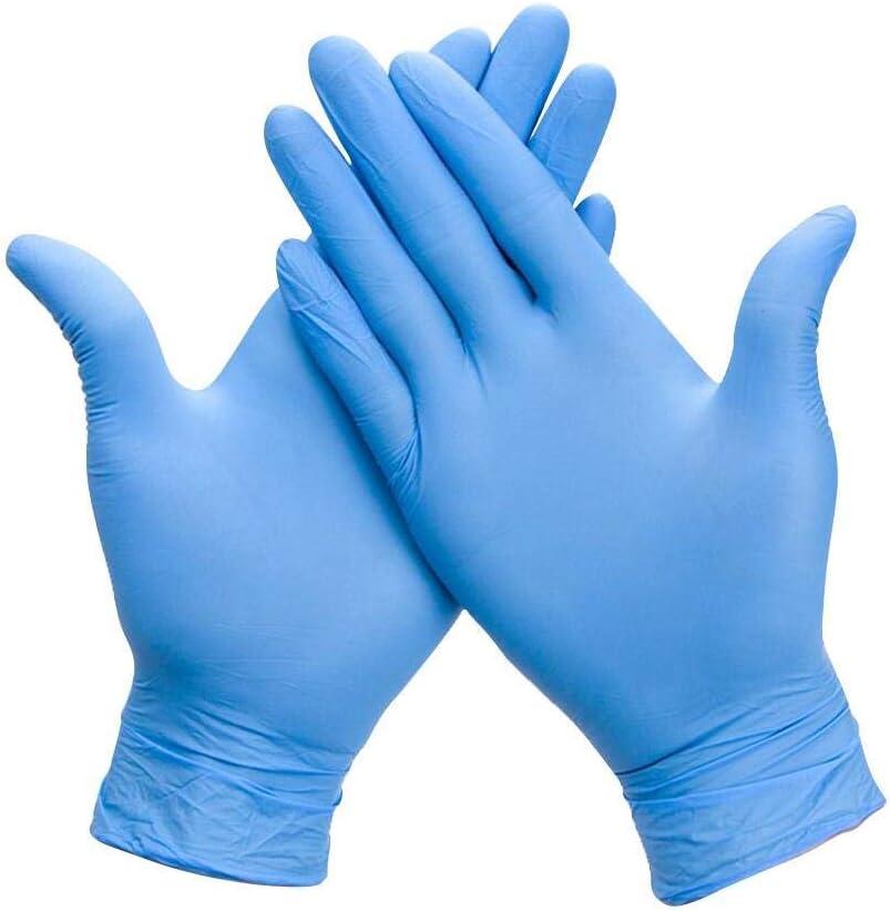 Uteruik Guantes Desechables de nitrilo sin Polvo de Goma para Limpieza de Grado alimenticio antibacterianos