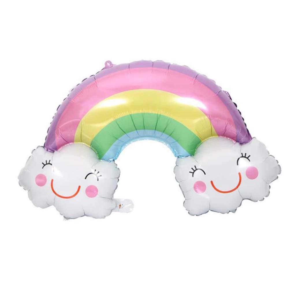 BAOCENG Cartoon Cloud Rainbow Balloon Foil Balloon Smiley Decorative Balloon for Children Party Birthday 10PCS