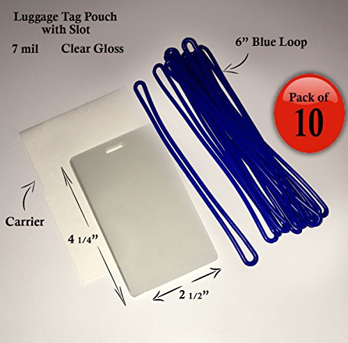 QTY: 10 - 7 mil Luggage Tag Laminating Pouch w/ (Cruise Flap)