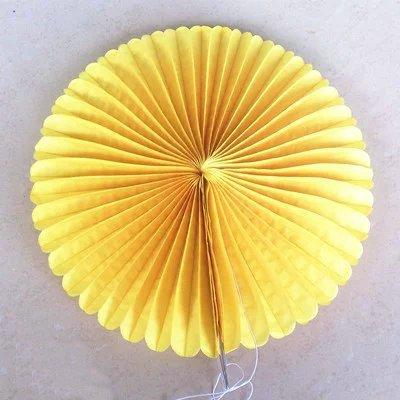 yellow paper fan decor - 6