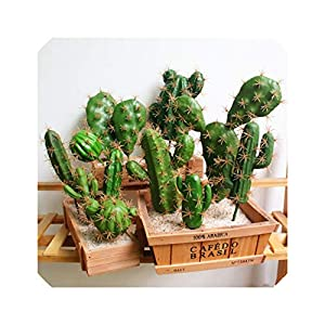 Artificial Succulent Plant Cactus Green Plant Desktop DIY Fake Plant Table Holiday Home 116