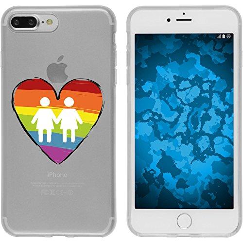 PhoneNatic Apple iPhone 7 Plus / 8 Plus Custodia in Silicone pride M4 Case iPhone 7 Plus / 8 Plus + pellicola protettiva