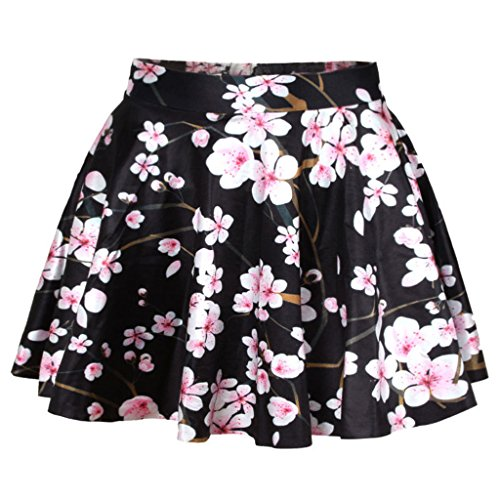 Casual Light Cherry (Light Pink Cherry Blossom Skirt Women's Classic Little Black Dress,One Size)