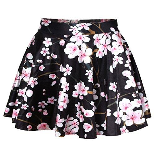 Light Pink Cherry Blossom Skirt Women's Classic Little Black Dress,One Size