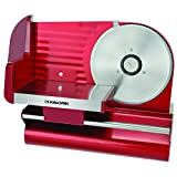 Kalorik AS 29091 R 200-Watt Electric Slicer with 7-1/2-Inch Stainless-Steel Blade (Metallic Red)