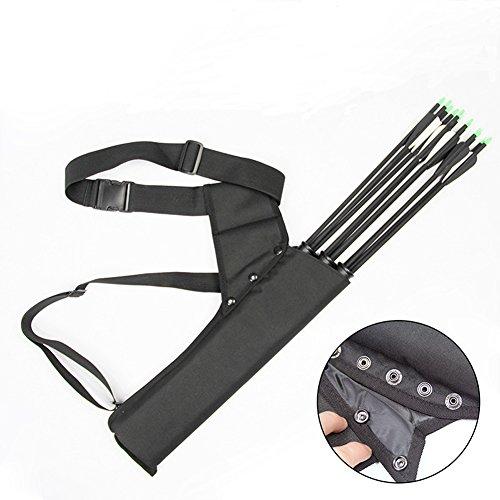 3 Tube Archery Quiver Premium Oxford Cloth Hip Hunting Training Arrow Holder Carry Bag Adjustable Bow Belt Target Quiver for Back or Waist Use SJ0003 - Adjustable Bow Holder