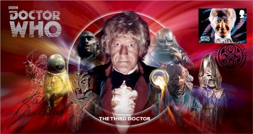 Dr Doctor Who BBC Official 50th Anniversary Limited Edition Katy Manning Signed First Day Stamp Cover - The Third Doctor - Jon Pertwee
