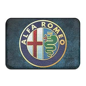 Anuoge Alfa Romeo Car Brand Non-Skid Home Mat 60x40cm