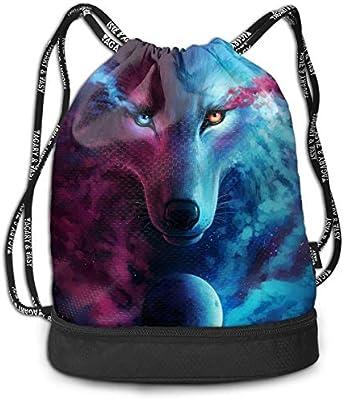 HUOPR5Q Colors-Purple Drawstring Backpack Sport Gym Sack Shoulder Bulk Bag Dance Bag for School Travel