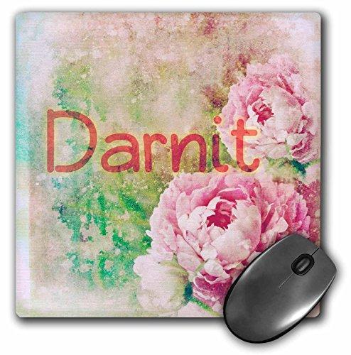 3dRose Cassie Peters Granny Swears - Darnit Roses - MousePad (mp_283673_1)