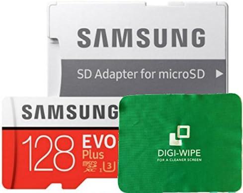 Micro-SD Evo Plus - Tarjeta de memoria para Samsung S7, S7+, S8, S8+, S9, S9 Plus, incluye paño de limpieza de microfibra